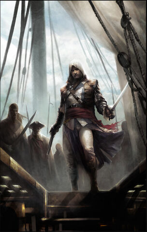 File:Edward Kenway on Ship - Concept Art.jpg