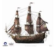 Assassin's Creed IV Black Flag -Ship- QueenAnne'sRevenge by max qin