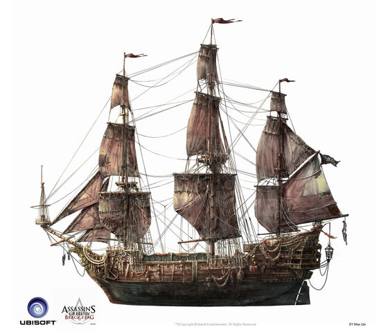 File:Assassin's Creed IV Black Flag -Ship- QueenAnne'sRevenge by max qin.jpg