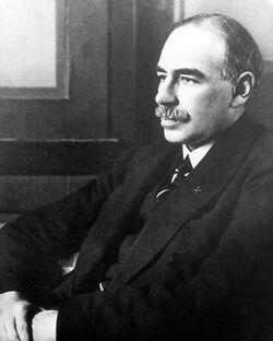 John Maynard Keynes sitting