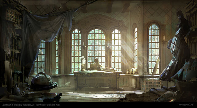 File:AC4BF Inagua Hideout Office - Concept Art.jpg