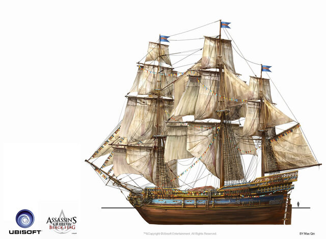 File:Assassin's Creed IV Black Flag -Ship-MerchantShipping by max qin.jpg