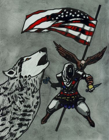 File:Eagle and Wolf - The Duality of Connor concept art by Kaloneous.jpg