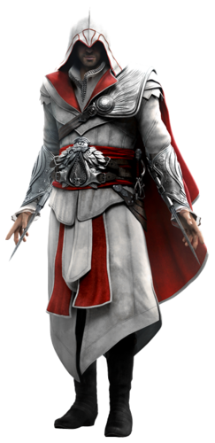 "Ezio w <a href=""/wiki/Assassin%27s_Creed:_Brotherhood"" title=""Assassin's Creed: Brotherhood"">Assassin's Creed: Brotherhood</a>"