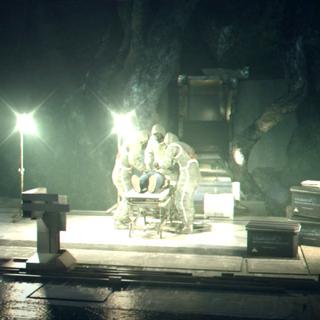 一支阿布斯泰戈团队从戴斯蒙德的尸体上回收样本