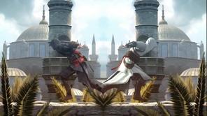 Ezio and Altair running