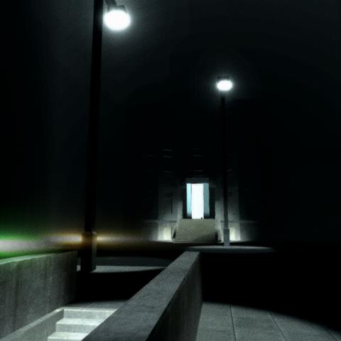 暗室模式下的纽约街道