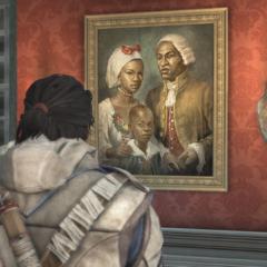 康纳观看阿基里斯家庭的油画
