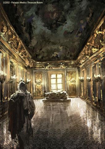 File:AC2 Palazzo Medici Treasure Room - Concept Art.jpg