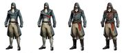 ACU Arno Outfit Variations - Concept Art