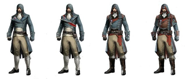File:ACU Arno Outfit Variations - Concept Art.jpg
