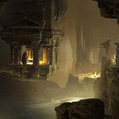 阿尔诺在洞穴中艺术设定