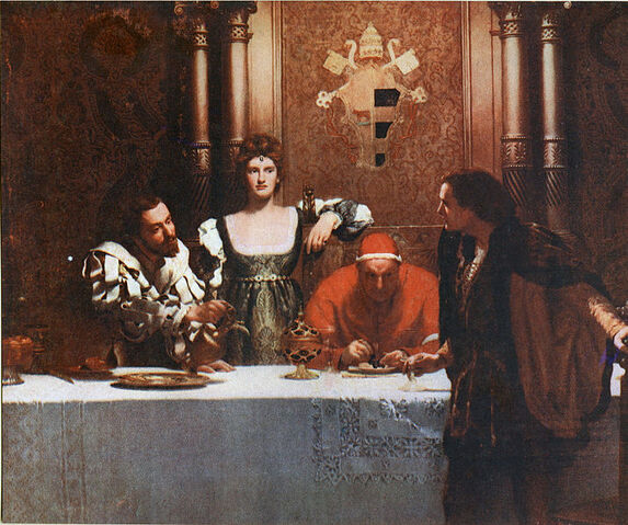 File:A Glass of Wine with Caesar Borgia - John Collier.jpg