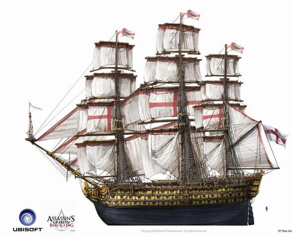 File:Assassin's Creed IV Black Flag -Ship- BritishMilitaryNavalShips ManOfWar by max qin.jpg