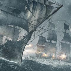 <i>寒鸦号</i> 在风暴中战斗