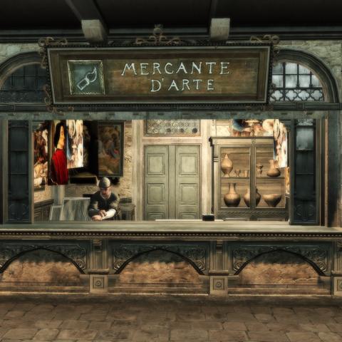 Monteriggioni's art merchant