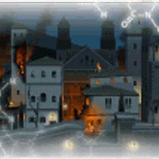 Granada City, under siege at night