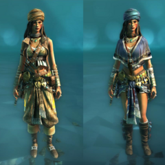 Warrior and Independent costumes for the Rebel