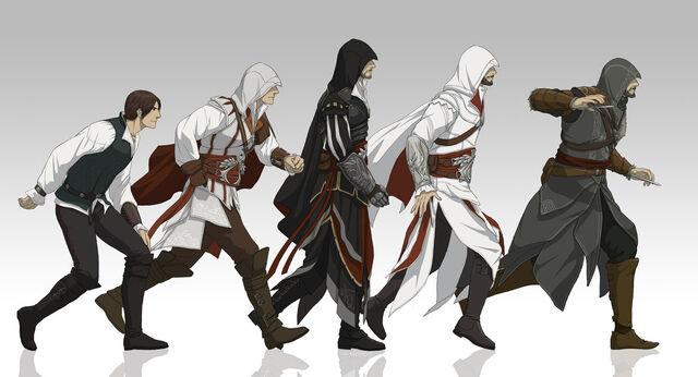 File:Evolution of ezio by doubleleaf-d3icnak.jpg