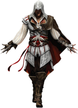 "Ezio w <a href=""/wiki/Assassin%27s_Creed_II"" title=""Assassin's Creed II"">Assassin's Creed II</a>"