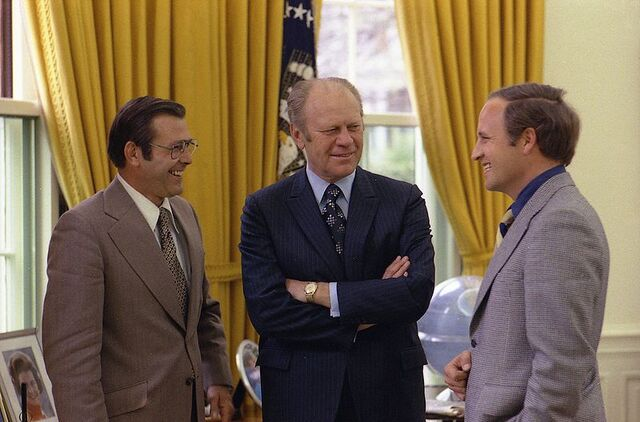 File:Rumsfeld, Ford and Dick.jpg