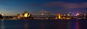 Sydney Harbour pano at night