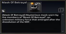 Mask of Betrayal description