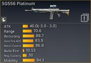 SG556 Platinum statistics
