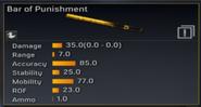 Bar of Punishment stats