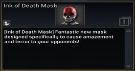Ink of Death Mask description