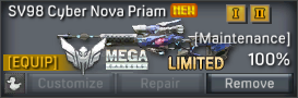 SV98 Cyber Nova Priam uncustomizable
