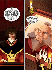 Zuko and picture of Iroh