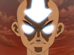 Angry Aang in Avatar State
