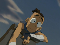 Sokka freaks out