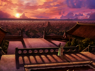 File:Katara and Aang by Jasmine Dragon's balcony.png