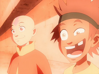 File:Young Bumi and Aang.png