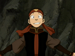 Aang in student attire