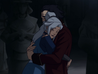 Kya and Bumi hug