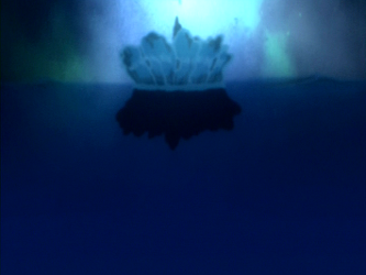 File:Aang falling into water.png