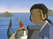 Katara raises eyebrow
