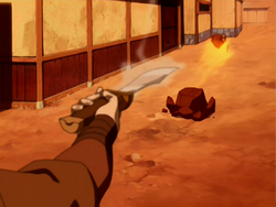 Zuko fighting Gow