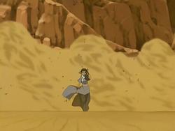 Katara in sandstorm
