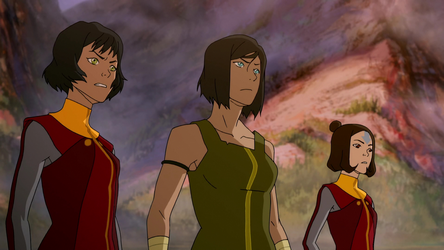 File:Korra, Opal, and Jinora negotiate.png