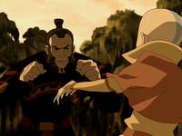 Zhao fighting Aang