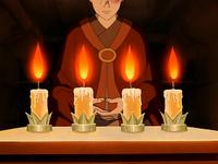 Zuko meditating