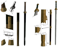 Sokka and Piandao's sword concept art