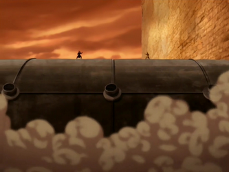 Archivo:Aang and Azula about to fight.png