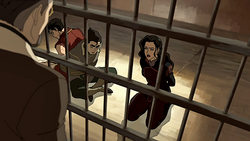Asami angrily rejecting her father