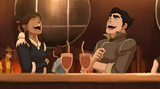 Korra and Bolin laughing