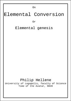 ElementalConversion